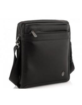 Мужская черная кожаная сумка на плечо Royal RB287891
