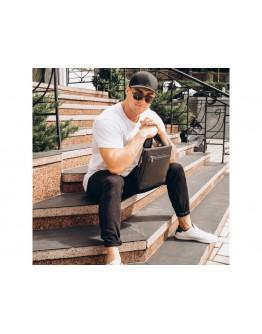 Черный кожаный мужской мессенджер Royal RB2970081