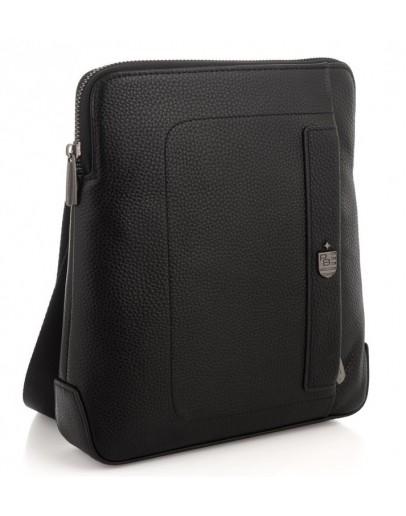 Фотография Черная кожаная сумка на плечо Royal RB2970151