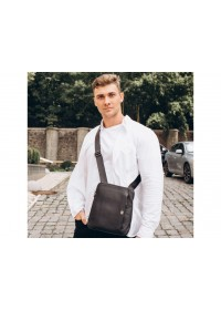 Черная кожаная сумка на плечо Royal RB2970151
