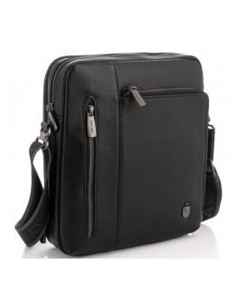 Сумка черная кожаная на плечо Royal Bag RB297890
