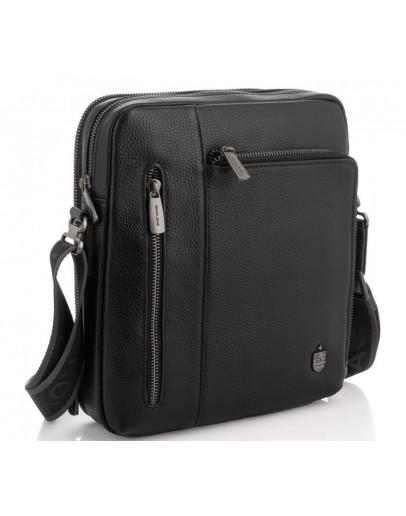 Фотография Сумка черная кожаная на плечо Royal Bag RB297890