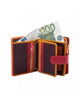 Женский оранжевый рюкзак Visconti RB40 Bali c RFID (Orange Multi)