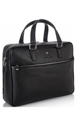Деловая кожаная мужская черная сумка Royal RB50061
