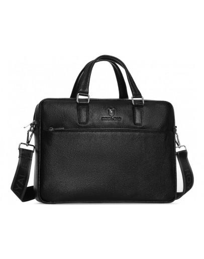 Фотография Деловая кожаная мужская черная сумка Royal RB50061