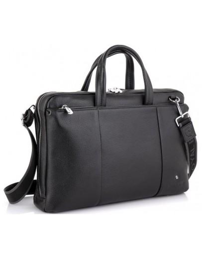 Фотография Деловая сумка мужская кожаная черная Royal RB50111