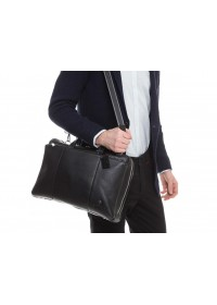 Деловая сумка мужская кожаная черная Royal RB50111