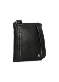 Мужская черная кожаная сумка планшетка Royal RB70071