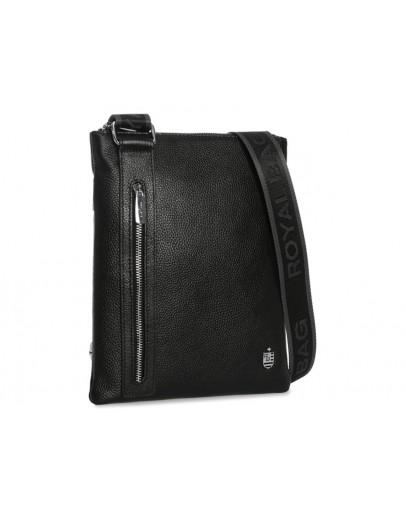 Фотография Мужская черная кожаная сумка планшетка Royal RB70071