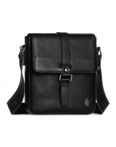 Фотография Черная кожаная мужская плечевая сумка Royal RB70131