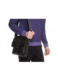 Черная кожаная мужская плечевая сумка Royal RB70131
