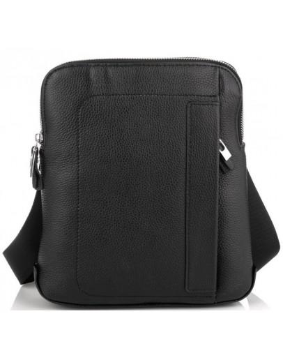 Фотография Кожаная мужская черная сумка планшетка Royal RB70151