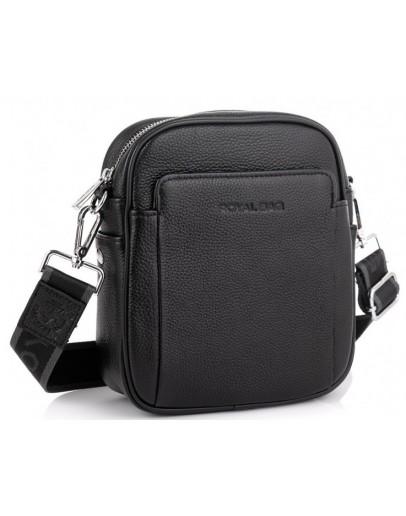 Фотография Черная небольшая кожаная сумка на плечо Royal RB70208