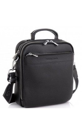 Черная деловая мужская сумка кожаная Royal RB70209