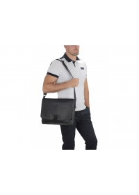 Черная мужская сумка на плечо формата А4 Royal RB8-1002A