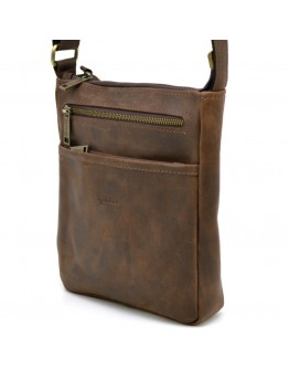 Мужская коричневая винтажная сумка на плечо Tarwa RC-1300-3md