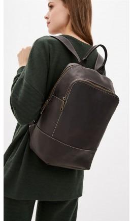 Коричневый кожаный женский рюкзак из винтажной кожи Tarwa RC-2008-3md