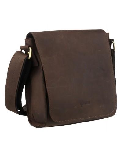 Фотография Коричневая кожаная сумка на плечо c клапаном Tarwa RC-30271-3md