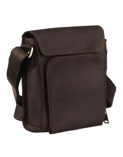 Фотография Коричневая кожаная сумка на плечо Tarwa RC-30272-3md