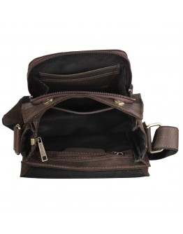 Коричневая кожаная сумка на плечо Tarwa RC-30272-3md