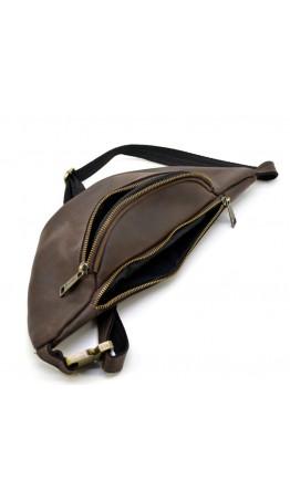 Темно-коричневая мужская сумка на пояс TARWA RC-3035-3md