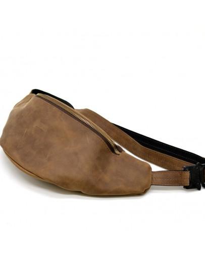 Фотография Мужская коричневая винтажная бананка - сумка на пояс Tarwa RC-3036-4lx