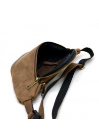 Мужская коричневая винтажная бананка - сумка на пояс Tarwa RC-3036-4lx