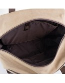 Фотография Рюкзак коричневого цвета из натуральной кожи и ткани Tarwa RC-3943-4lx