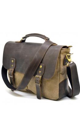 Мужская сумка из ткани и натуральной кожи Tarwa RC-3960-4lx