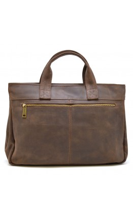 Коричневая деловая мужская кожаная сумка Tarwa RC-7107-1md