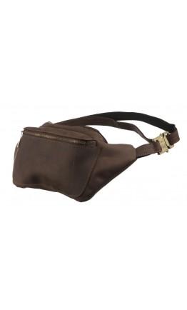 Кожаная коричневая винтажная мужская сумка на пояс Tarwa RC-3012-3md