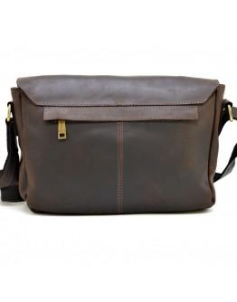 Темно-коричневый кожаный вместительный мессенджер Tarwa RС-6002-3md