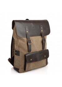Рюкзак из прочной ткани и натуральной кожи Tarwa RCs-9001-4lx
