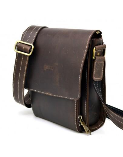 Фотография Кожаная сумка мужская, коричневый цвет Tarwa RCw-3027-3md