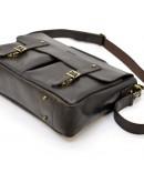 Фотография Мужской коричневый кожаный винтажный портфель Tarwa RDС-3960-4lx