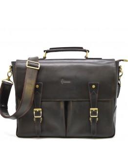 Мужской коричневый кожаный винтажный портфель Tarwa RDС-3960-4lx
