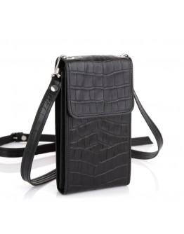 Небольшая женская кожаная черная сумка Tarwa REP1-2122-4lx