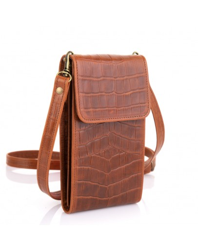 Фотография Небольшая женская кожаная коричневая сумка Tarwa REP2-2122-4lx