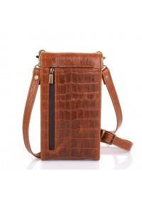 Небольшая женская кожаная коричневая сумка Tarwa REP2-2122-4lx