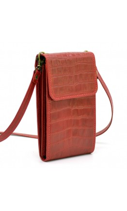 Небольшая женская кожаная красная сумка Tarwa REP3-2122-4lx