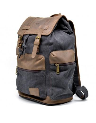 Фотография Серый вместительный тканево-кожаный рюкзак Tarwa RG-0010-4lx