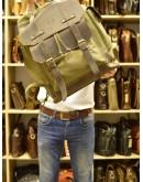 Фотография Большой мужской тканево - кожаный рюкзак цвета хаки Tarwa RH-6680-4lx