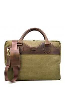 Мужская тканево-кожаная сумка для документов Tarwa RH-8839-4lx