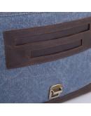 Фотография Большая синяя мужская сумка на плечо кожа+ткань Tarwa RK-1809-4lx