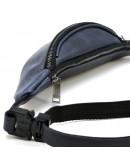 Фотография Синяя кожаная небольшая сумка на пояс Tarwa RK-3034-3md