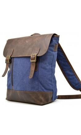 Мужской рюкзак из ткани и натуральной кожи Tarwa RК-3880-3md