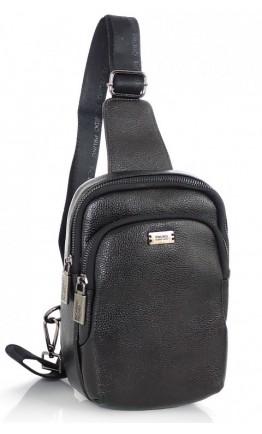 Черный кожаный удобный слинг Ricardo Pruno RP-F-A25F-1922A