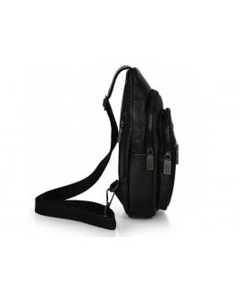 Кожаный черный слинг мужской Ricardo Pruno RP-F-A25F-5060A