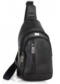 Слинг черный кожаный мужской Ricardo Pruno RP-F-A25F-5605A