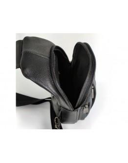 Черный кожаный мужской слинг Ricardo Pruno RP-F-A25F-6601A